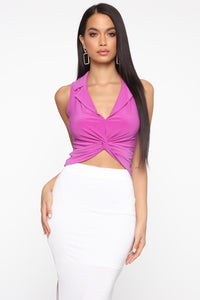 Got You Twisted Top - Magenta