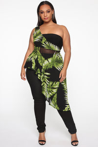 Tropical In Love Top - Black/Combo