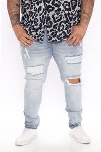 Why You Mad Distressed Skinny Jean - Light Wash Angle 6