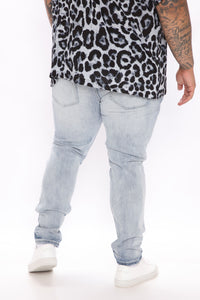 Why You Mad Distressed Skinny Jean - Light Wash Angle 7