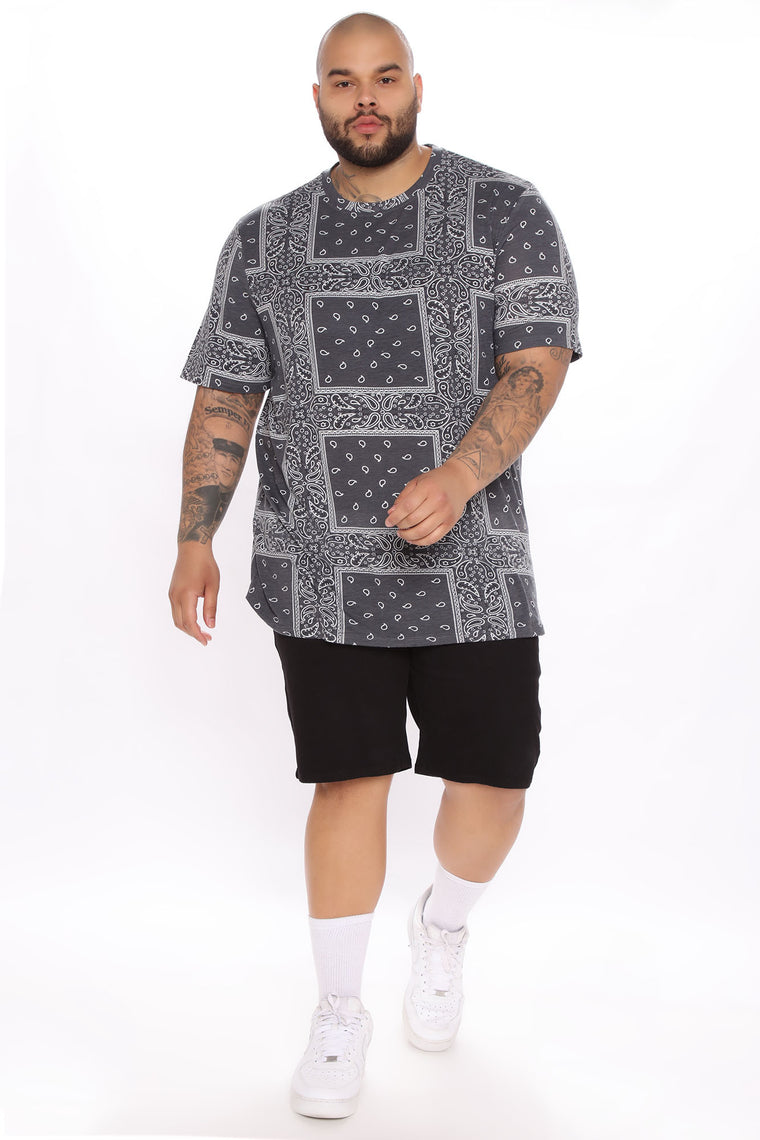 Paul Short Sleeve Tee - Charcoal/Combo