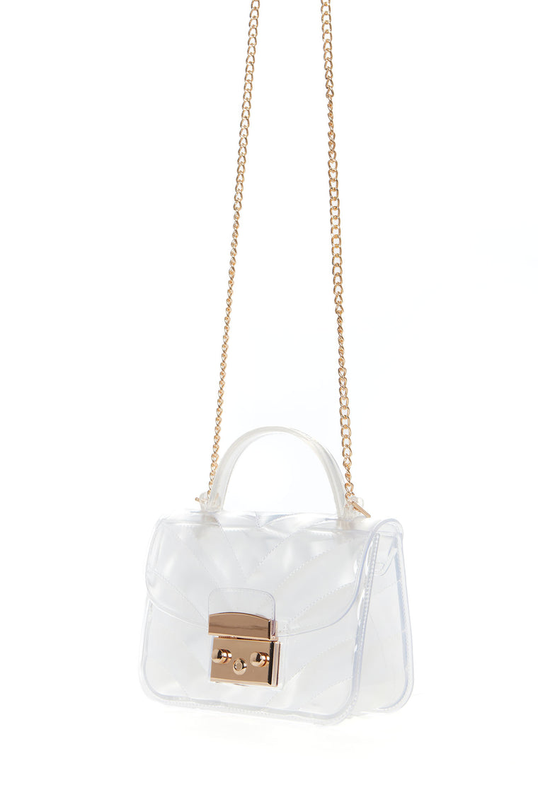 See Right Through It Handbag - Clear