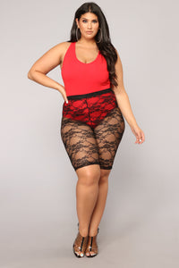 Zoey Racer Back Bodysuit - Red