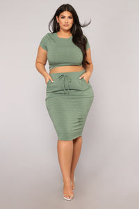 Casual Lover Skirt - Dark Green Angle 7