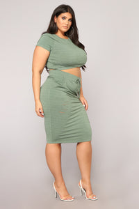 Casual Lover Skirt - Dark Green Angle 9