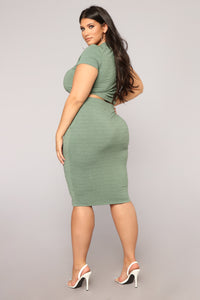 Casual Lover Skirt - Dark Green Angle 11