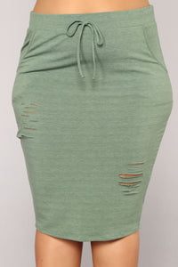 Casual Lover Skirt - Dark Green Angle 12