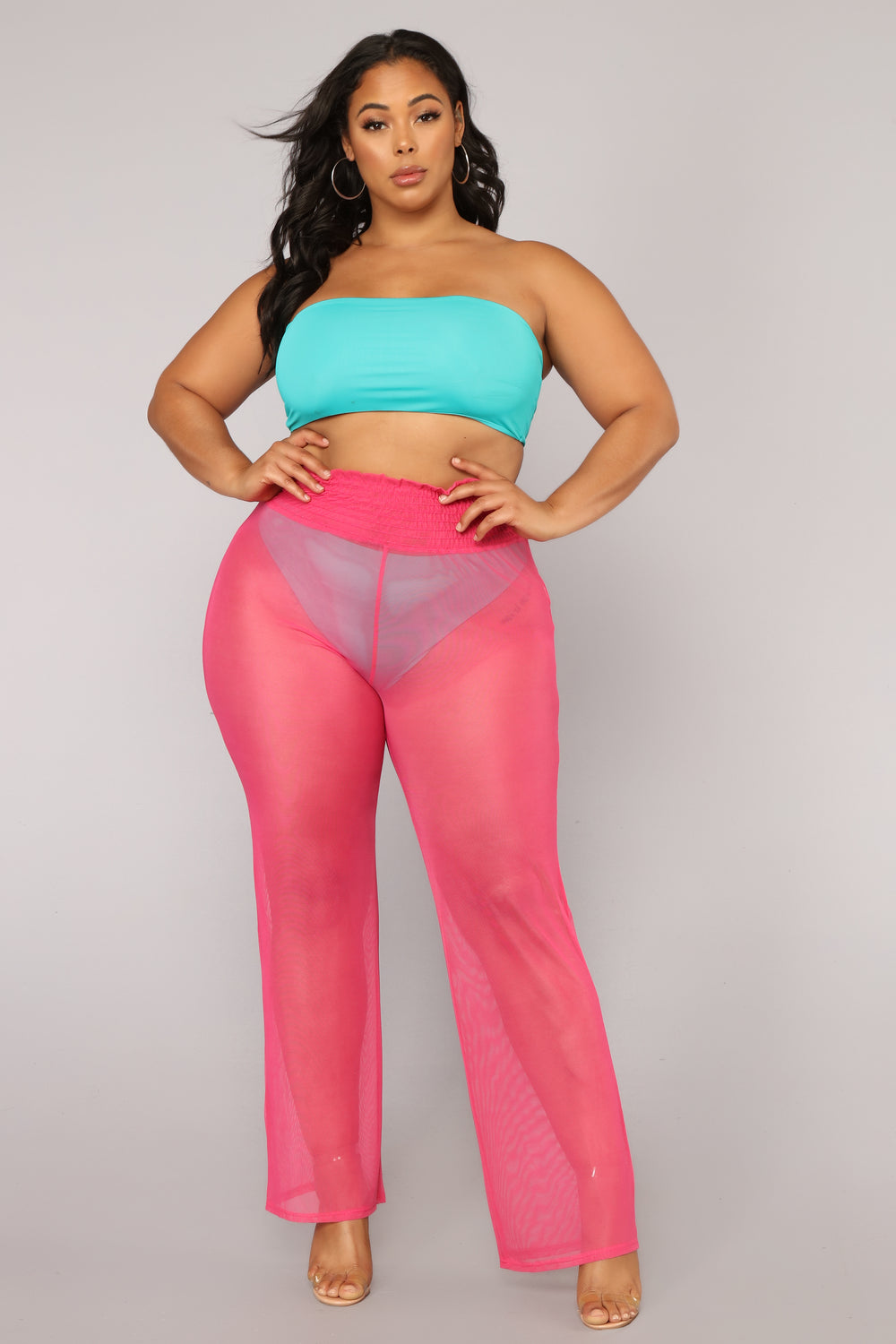 Falling Out Coverup Pant - Pink