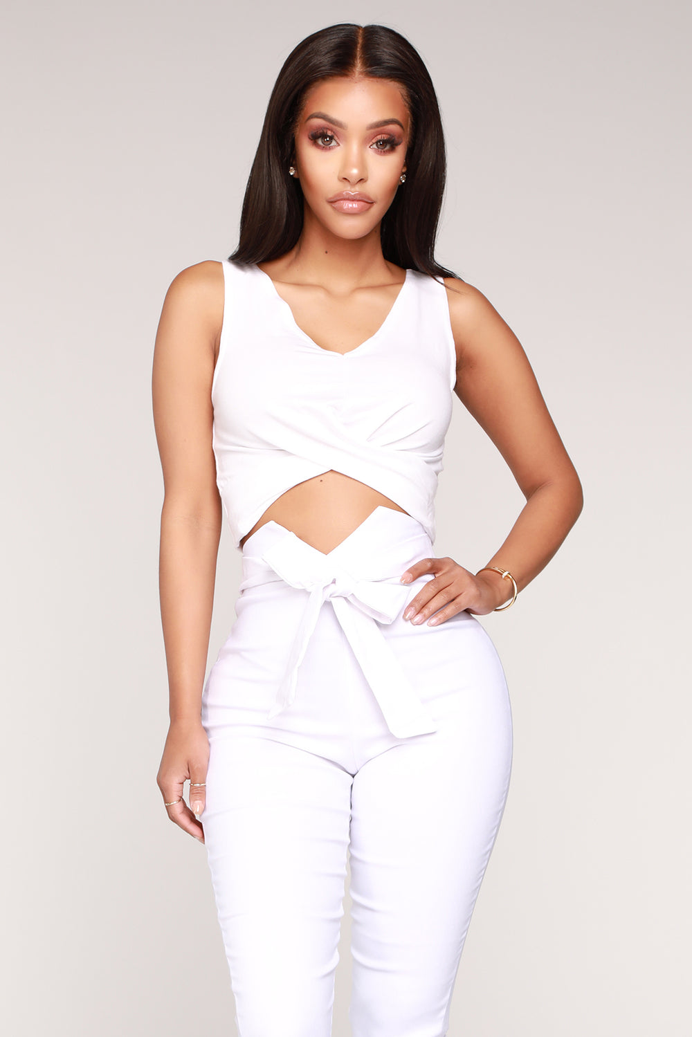 A Little Romance Surplice Top - White