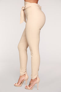 Knot Your Girl Pants - Khaki Angle 3