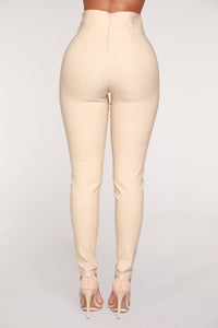 Knot Your Girl Pants - Khaki Angle 6
