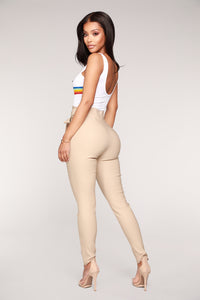 Knot Your Girl Pants - Khaki Angle 5