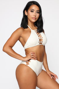 Watch Me Sparkle Swimsuit - Ivory