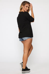Anti Drama Drama Club Tunic Top - Black Angle 6