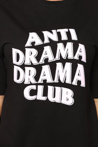 Anti Drama Drama Club Tunic Top - Black Angle 3
