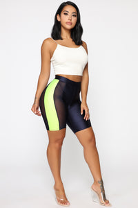 For The Night Biker Shorts - Navy