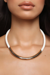 All Roped In Necklace - White