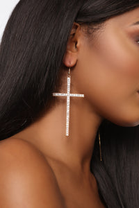 Aint No Sinner Earrings - Gold