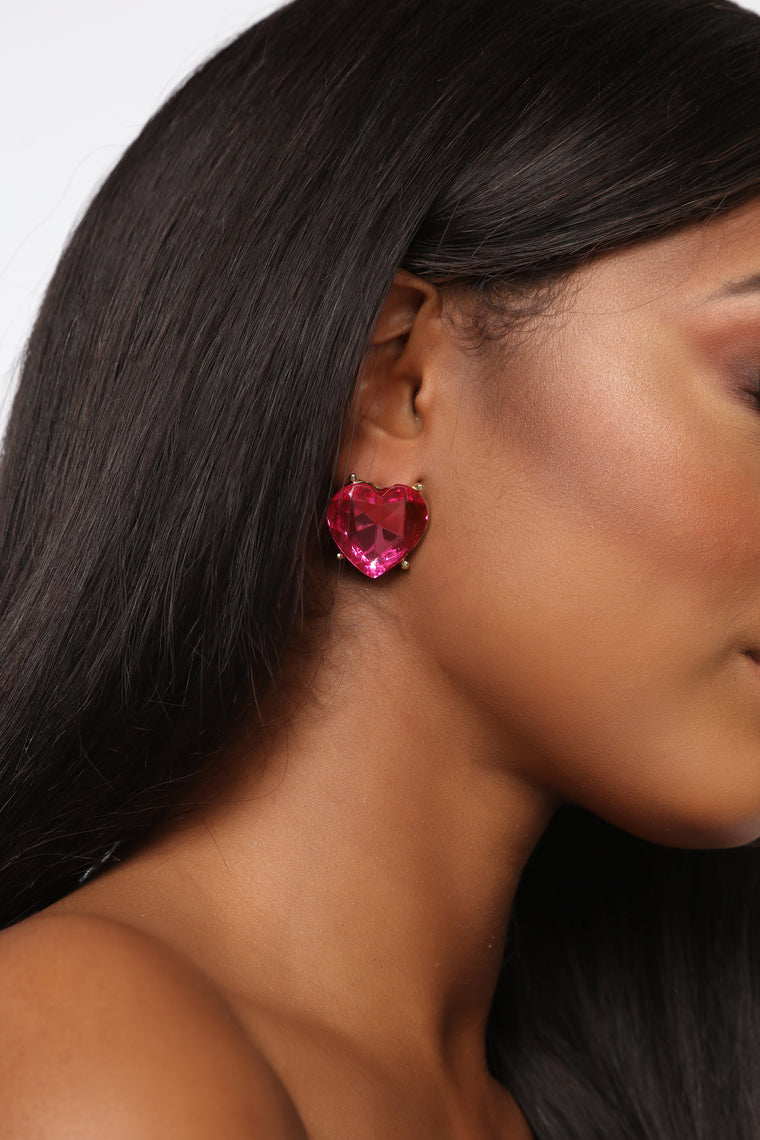 Off With Your Love Earrings   Pink by Fashion Nova