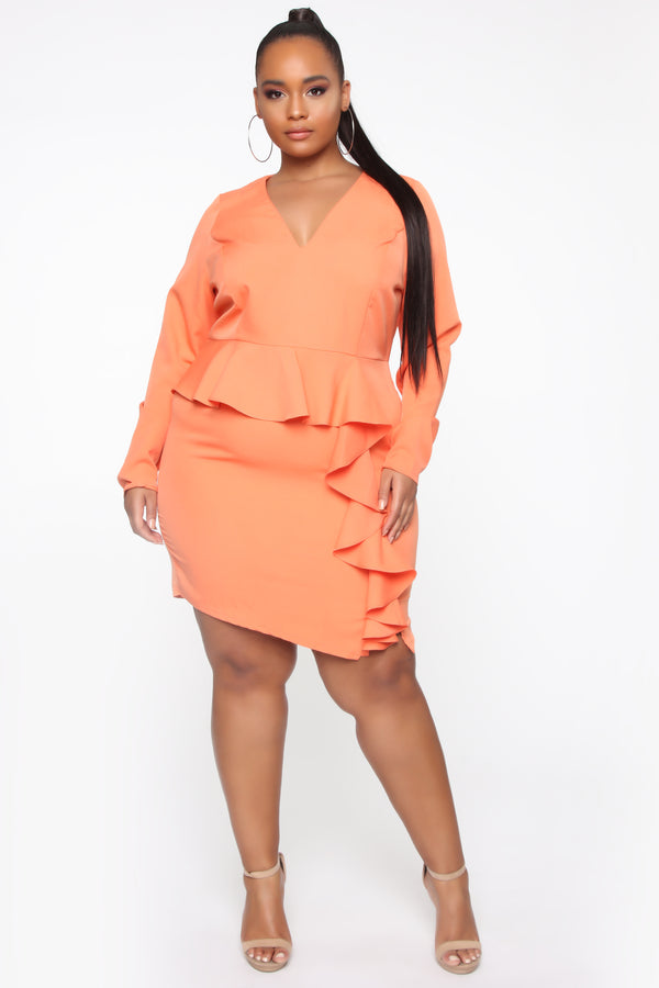 c0bef33fb6cdc Sunday Funday Mini Dress - Tangerine