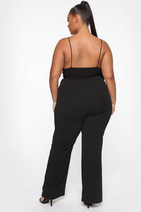 Take Me Away Belted Flare Pants - Black Angle 5