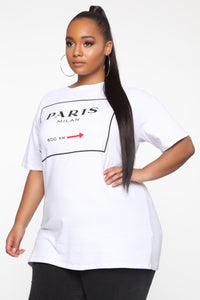 Paris For The Summer Tunic Top - White
