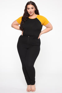 Take Me Out Top - Black/Yellow