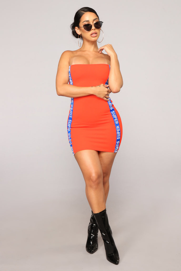 Super Fine Dress - Orange