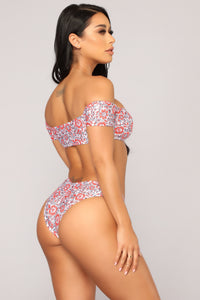 Boho Beauty Bikini - Coral/Multi