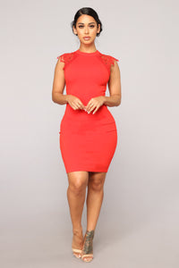 Dasia Lace Dress - Red