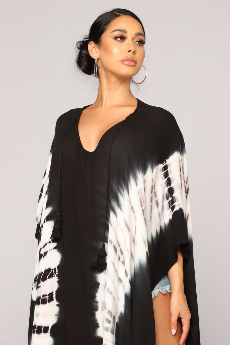 Lounging Away Cover Up - Black