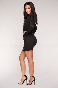 Not Making It Easy Skirt - Black Angle 3