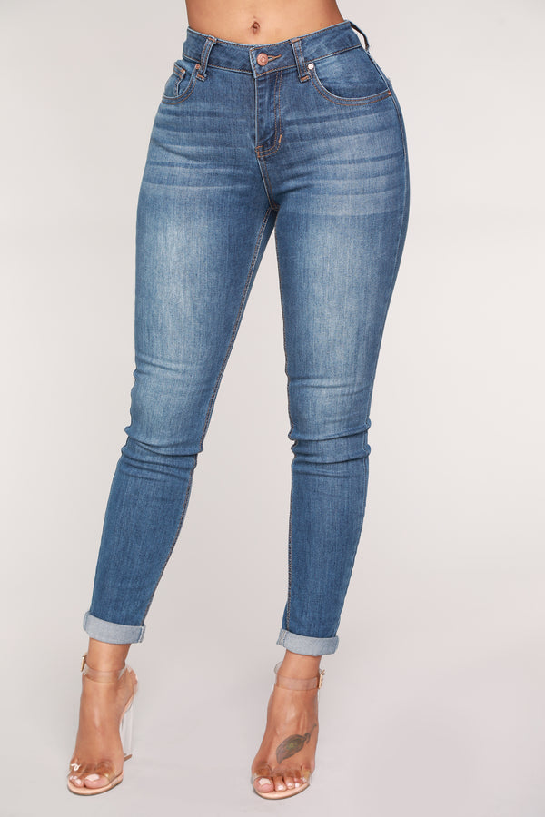 b0be74982b1 Back At You Ankle Jeans - Medium Blue Wash