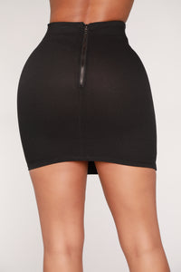 Not Making It Easy Skirt - Black Angle 6