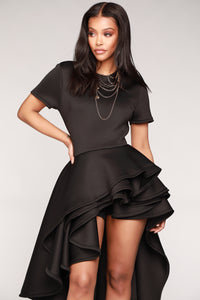 Hollywood Asymmetrical Top II - Black