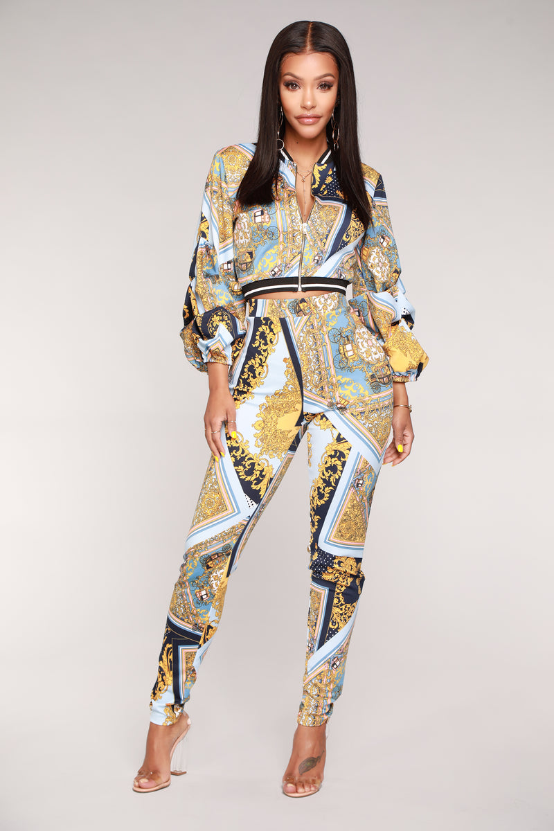 Sonata Pant Set - Blue Multi