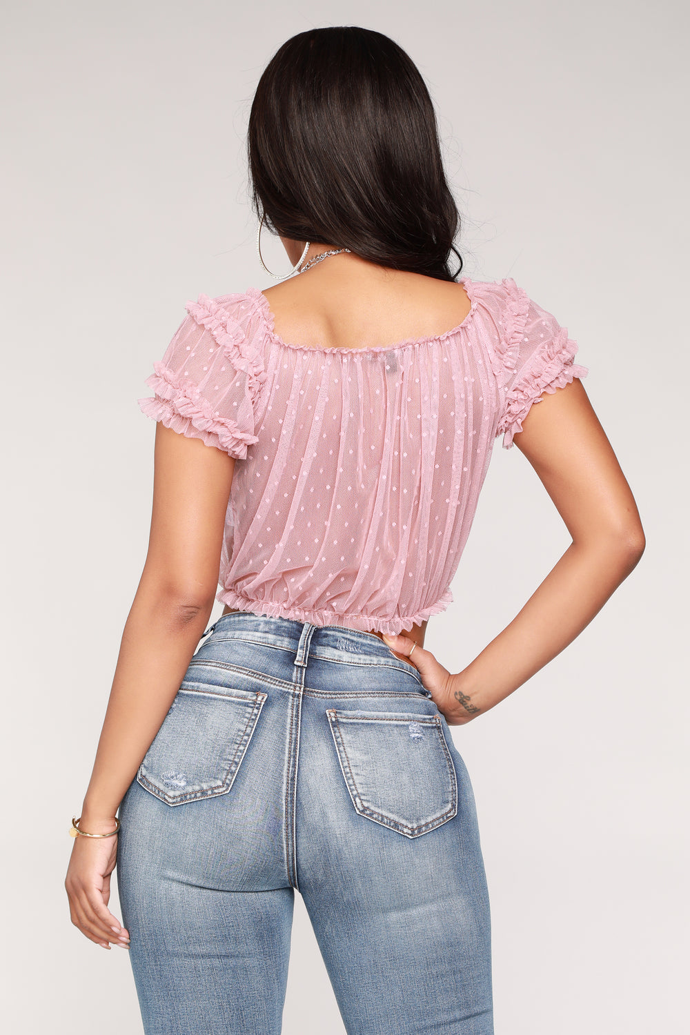 Sweet Dreams Lacey Top - Mauve