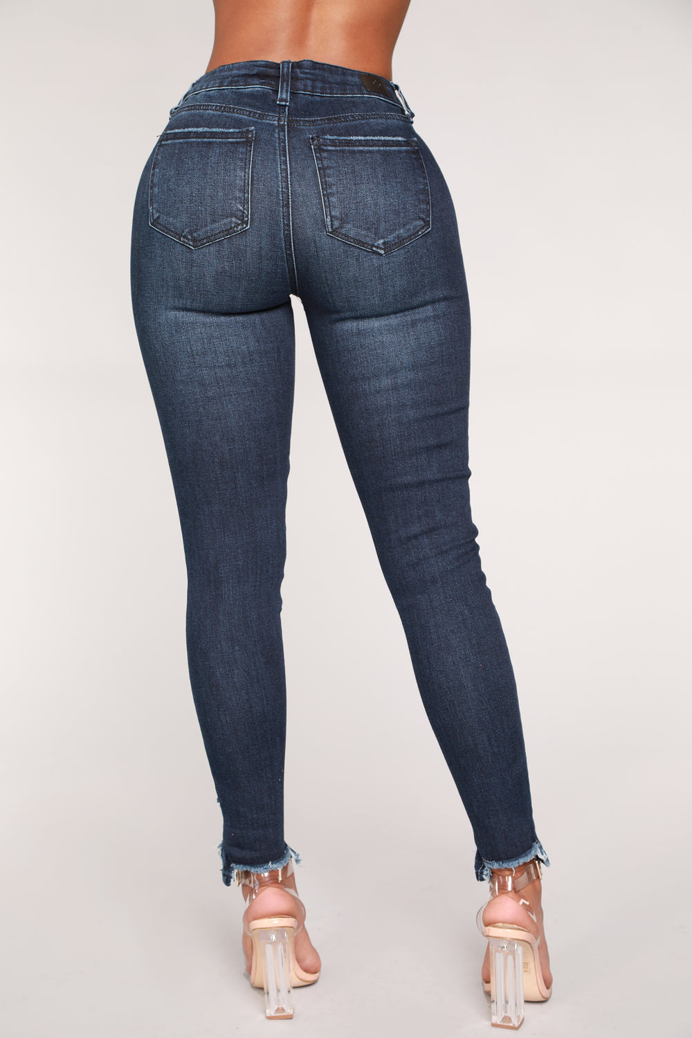 Your Turn Ankle Jeans - Dark Denim
