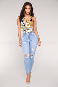 In The Clouds Skinny Jeans - Light Blue Wash Angle 2