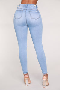 In The Clouds Skinny Jeans - Light Blue Wash Angle 6