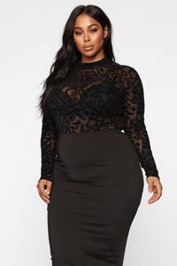 Mesh With Your Head Bodysuit - Black