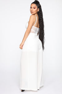 More To See Mesh Jumpsuit - Ivory