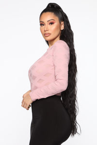 Edges That Scratch Bodysuit - Rose Angle 5