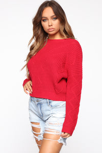 On A Break Sweater - Red