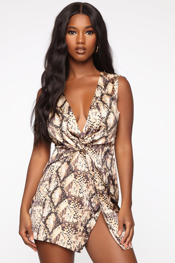 9016f75fe Sugar Filled Mini Dress - Brown Snake