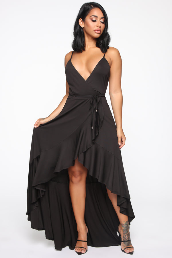 47fdadfd9 Every Strut Wrap Maxi Dress - Black
