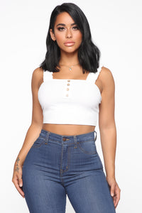 Do It Today Button Top - Off White Angle 1