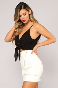 XOXO Crop Top - Black