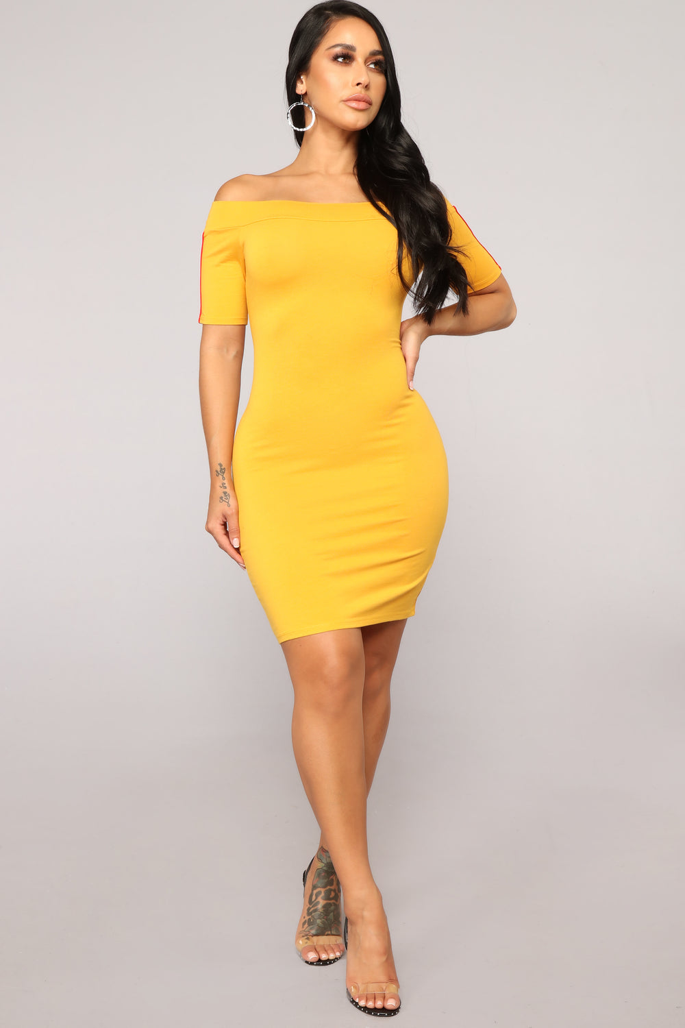 In Play Athletic Dress - Mustard