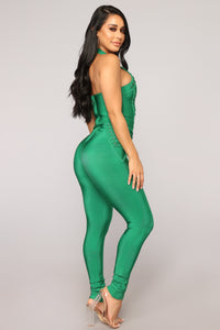 Rooftop Vibe Bandage Jumpsuit - Kelly Green
